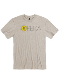 Topeka Oatmeal Sunflower Wordmark Short Sleeve T Shirt