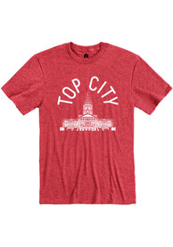Topeka Red Capitol Building Short Sleeve T Shirt