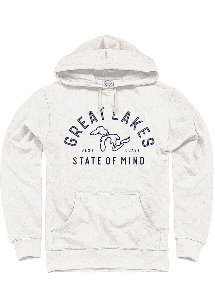 Michigan Oatmeal Great Lakes State of Mind Long Sleeve Hood Sweatshirt - Image 1
