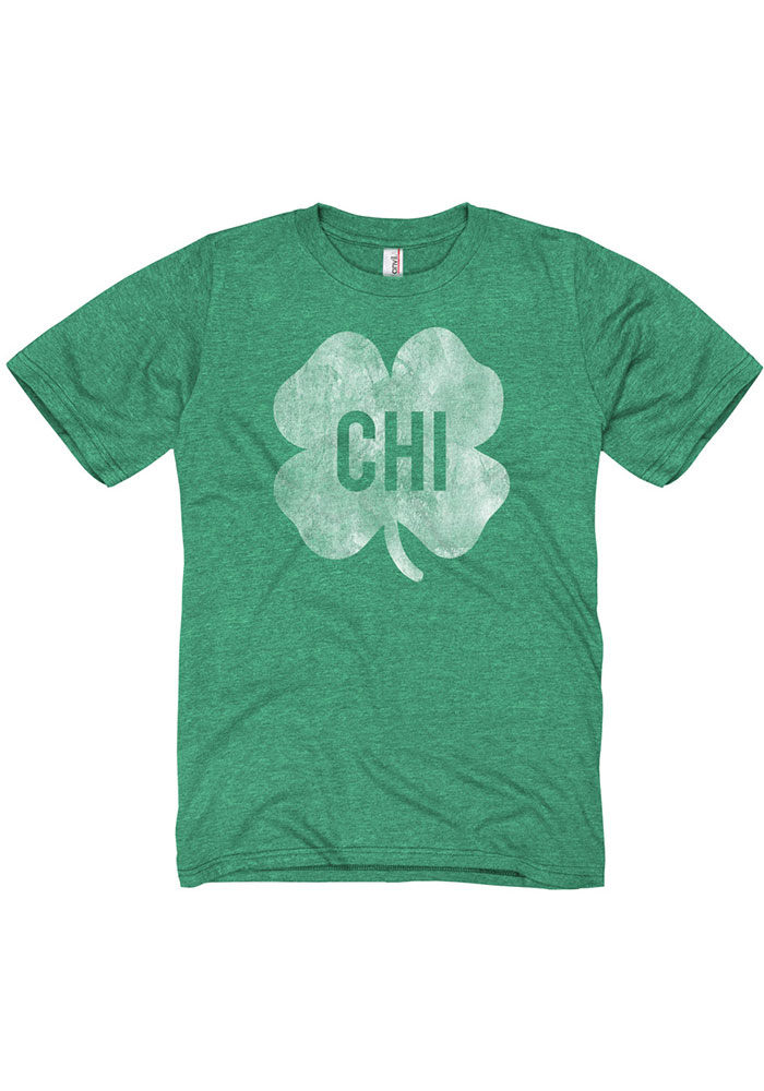 Chicago Green Shamrock Initials Short Sleeve Fashion T Shirt - Image 1