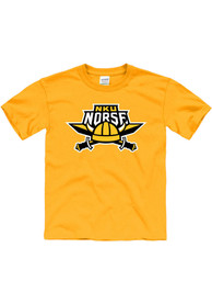 Northern Kentucky Norse Youth Gold Primary Logo T-Shirt