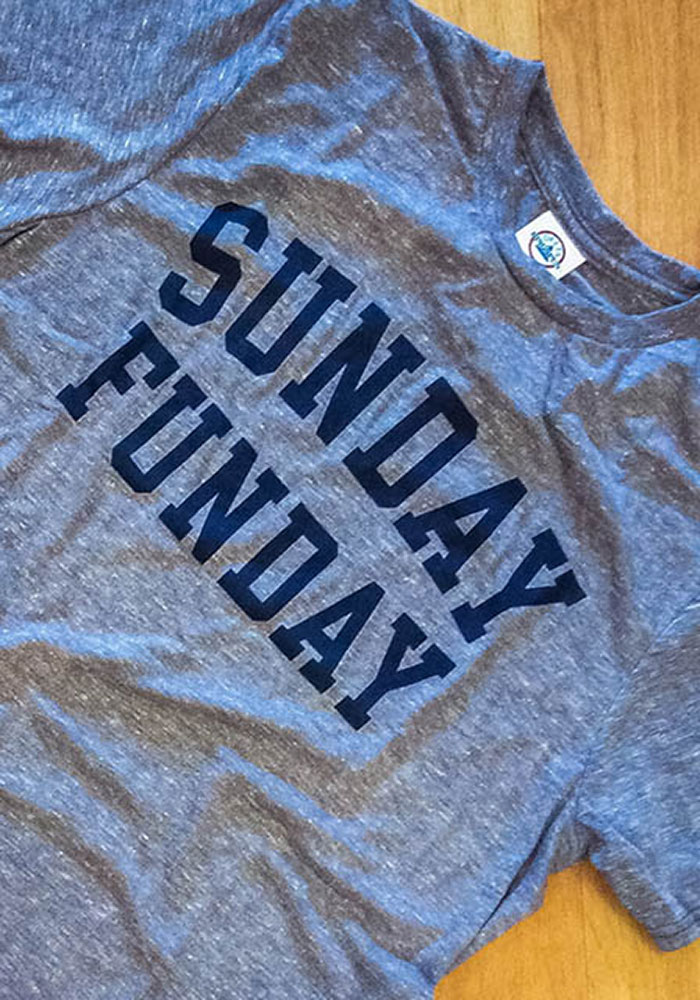Navy Blue Sunday Funday Short Sleeve Fashion T Shirt - Image 2