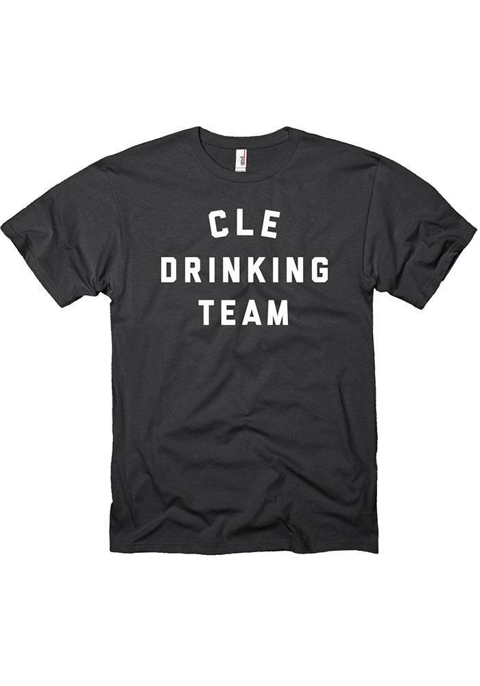 Cleveland Black Drinking Team Short Sleeve T Shirt