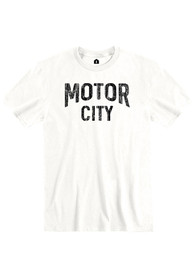 Detroit White Motor City Short Sleeve T Shirt