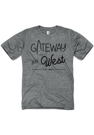 St. Louis Grey Gateway To The West Short Sleeve T Shirt
