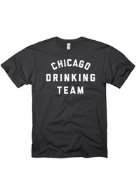 Chicago Black Drinking Team Short Sleeve T Shirt