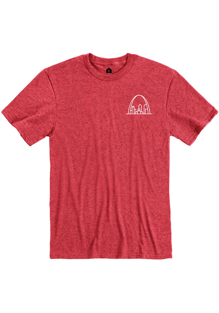 St Louis Red Arch Short Sleeve Fashion T Shirt - Image 1