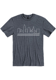 Cleveland Navy Skyline Short Sleeve T Shirt