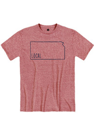 Kansas Red Local State Short Sleeve T Shirt