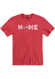 Kentucky Red Wood Grain Home Short Sleeve T Shirt