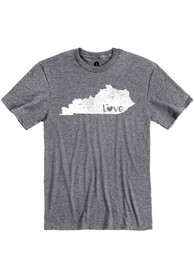 Kentucky Grey State Shape Love Short Sleeve T Shirt