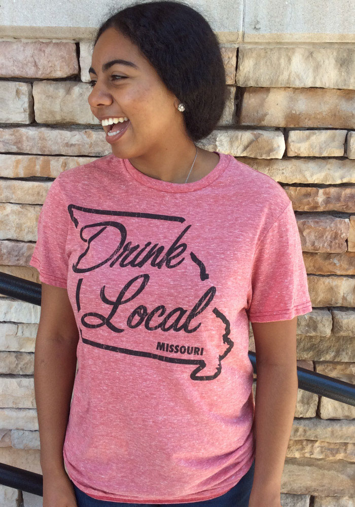 Missouri Red State Drink Local Short Sleeve T Shirt - Image 2