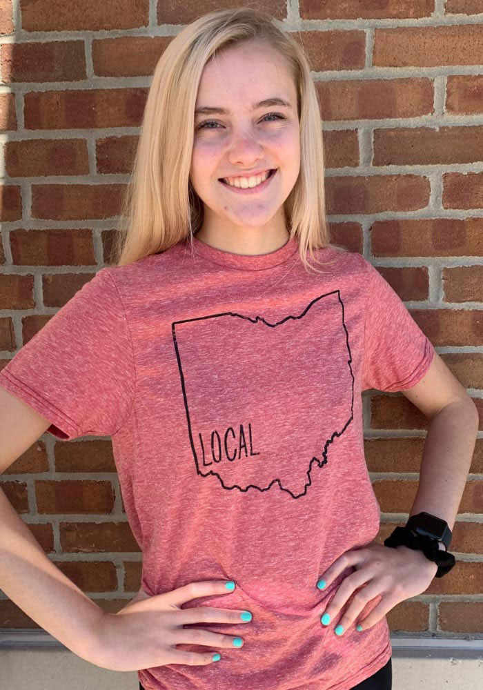 Ohio Red Local State Short Sleeve T Shirt - Image 2