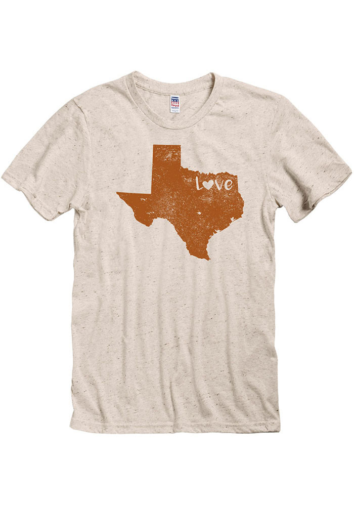 Texas Oatmeal State Shape Love Short Sleeve T Shirt - Image 1