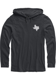 Texas Black State Shape Long Sleeve Light Weight Hood