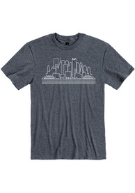 Pittsburgh Navy Skyline Short Sleeve T Shirt