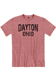 Dayton Red Wordmark Short Sleeve T Shirt