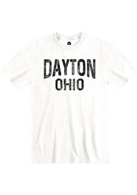 Dayton White Wordmark Short Sleeve T Shirt