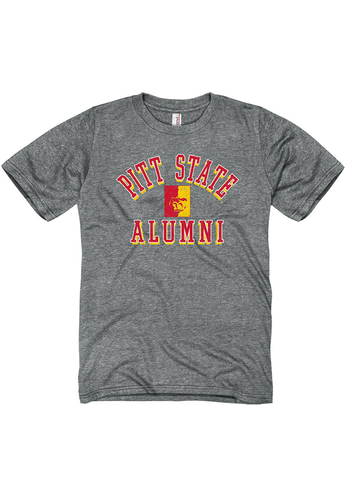 Pitt State Gorillas Grey Heathered Alumni Short Sleeve Fashion T Shirt - Image 1
