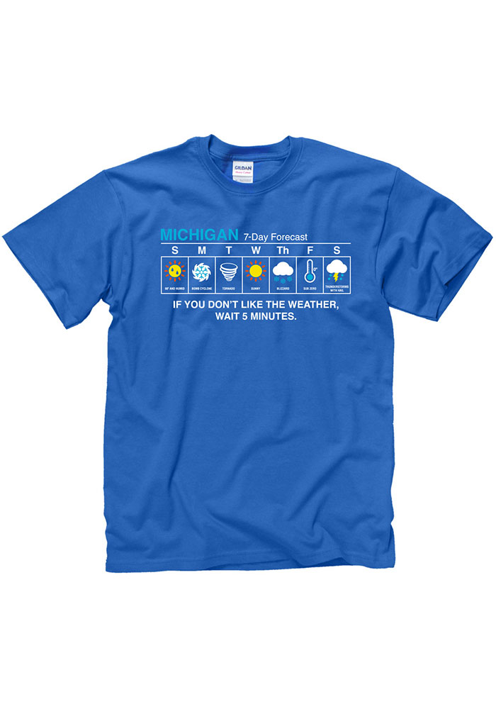 Michigan Royal Weather Forecast Short Sleeve T Shirt