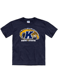 Kent State Golden Flashes Youth Navy Blue Primary Logo T-Shirt