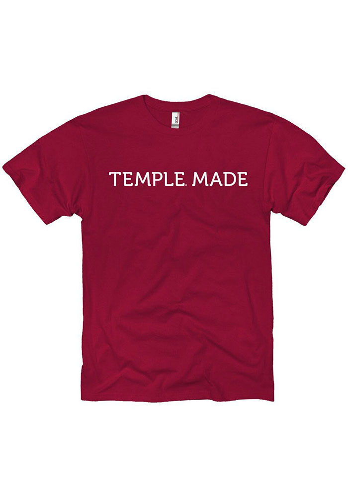 Temple Owls Temple Made T Shirt - Cardinal