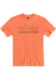 Cleveland Heather Orange Skyline Short Sleeve T Shirt