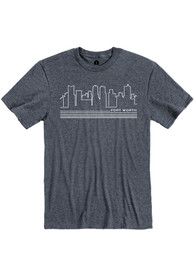 Fort Worth Navy Skyline Short Sleeve T Shirt