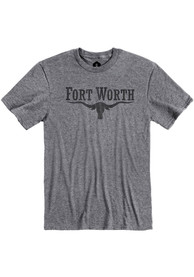 Fort Worth Grey Long Horn Short Sleeve T Shirt