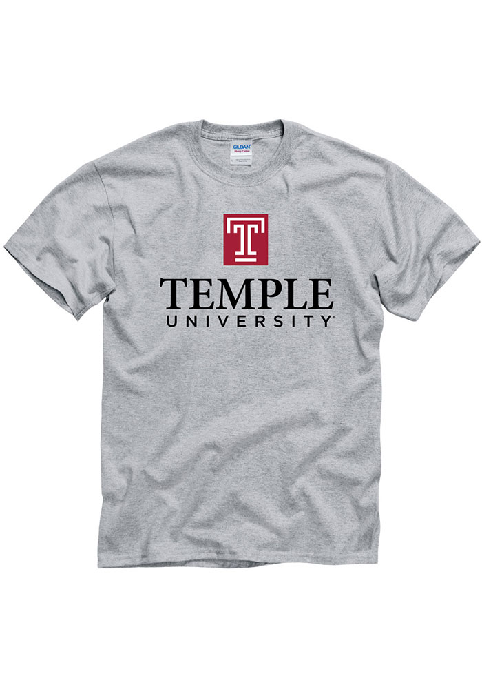 Temple Owls Big Logo T Shirt - Grey