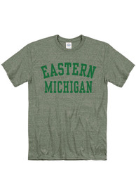 Eastern Michigan Eagles Snow Heather Team Name T Shirt - Green
