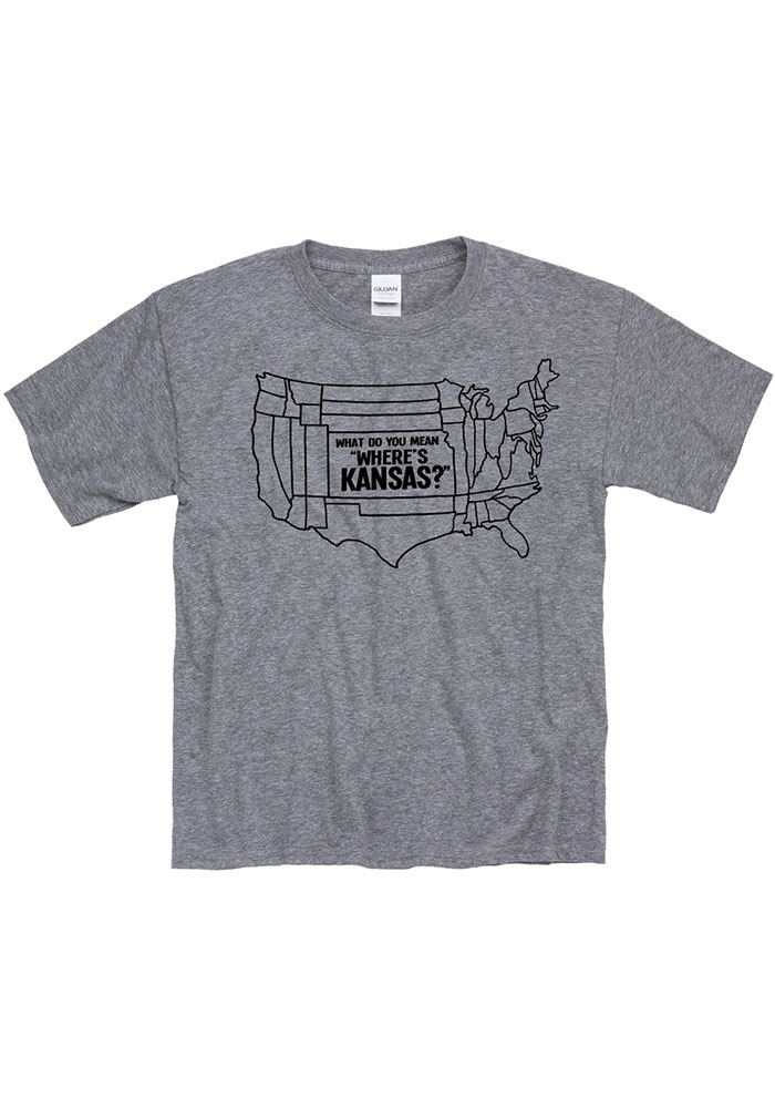 Kansas Youth Grey What Do You Mean Short Sleeve T Shirt - Image 1