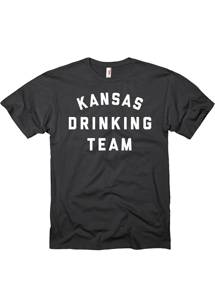 Kansas Black Drinking Team Short Sleeve T Shirt