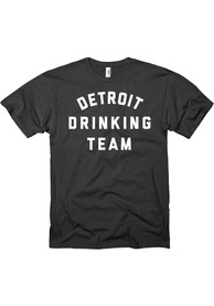 Detroit Black Drinking Team Short Sleeve T Shirt