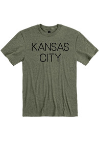 Kansas City Olive Green Disconnected Short Sleeve T Shirt