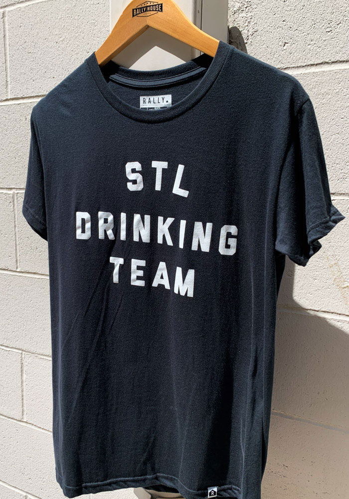 St. Louis Black Drinking Team Short Sleeve T Shirt - Image 2