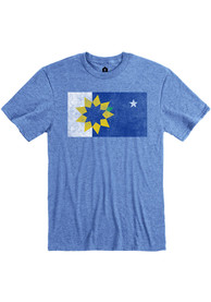 Topeka Blue City Flag Short Sleeve T Shirt