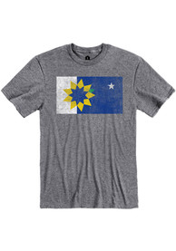 Topeka Grey City Flag Short Sleeve T Shirt