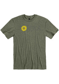 Topeka Olive Green Sunflower Short Sleeve T Shirt