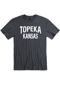 Topeka Dark Grey Wordmark Short Sleeve T Shirt