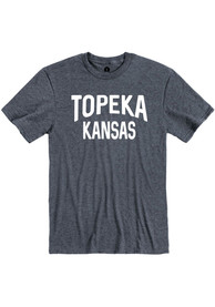 Topeka Navy Wordmark Short Sleeve T Shirt