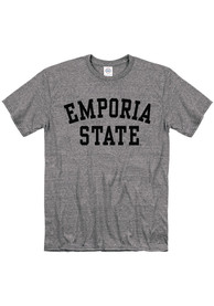 Emporia State Hornets Snow Heather Team Name T Shirt - Grey