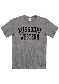 Missouri Western Griffons Snow Heather Team Name T Shirt - Grey