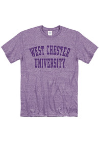 West Chester Golden Rams Snow Heather Team Name T Shirt - Purple