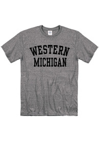 Western Michigan Broncos Snow Heather Team Name T Shirt - Grey