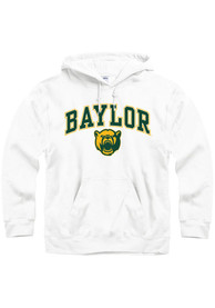 Baylor Bears White Arch Mascot Hoodie