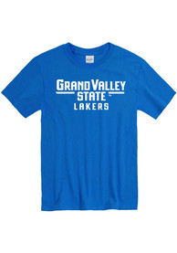 Grand Valley State Lakers Rally Loud T Shirt - Blue