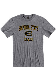 Emporia State Hornets Dad Graphic T Shirt - Grey