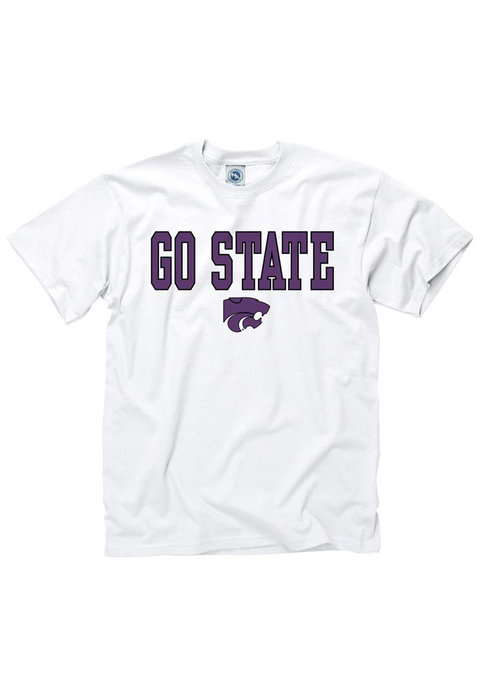 K-State Wildcats White Go Short Sleeve T Shirt - Image 1