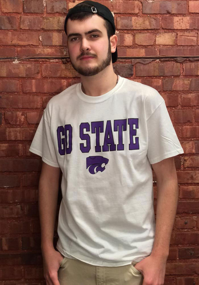 K-State Wildcats White Go Short Sleeve T Shirt - Image 2